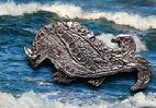 MEDIEVAL STYLE BOAR WHALE PIN